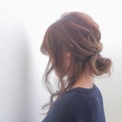 ヘアアレンジ ゆるふわ 前髪あり 外国人風 ヘアスタイルや髪型の写真・画像