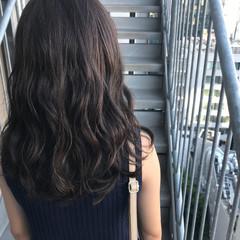 透明感 アウトドア セミロング ナチュラル ヘアスタイルや髪型の写真・画像