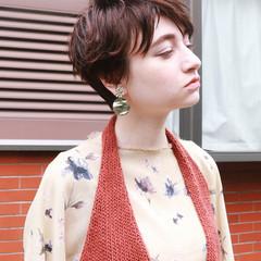 外国人風 ナチュラル ショート かっこいい ヘアスタイルや髪型の写真・画像