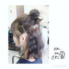 ヘアアレンジ 簡単ヘアアレンジ ミディアム お団子 ヘアスタイルや髪型の写真・画像