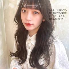 フェミニン セミロング 韓国ヘア ヘアスタイルや髪型の写真・画像
