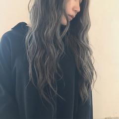 外国人風カラー ハイライト バレイヤージュ 透明感 ヘアスタイルや髪型の写真・画像