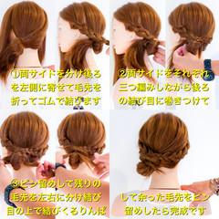 簡単ヘアアレンジ エレガント アウトドア ロング ヘアスタイルや髪型の写真・画像