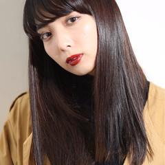 謝恩会 ストレート モード ロング ヘアスタイルや髪型の写真・画像