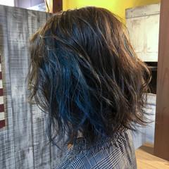 モード ゆるふわ ウェーブ ボブ ヘアスタイルや髪型の写真・画像