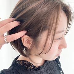 ハイライト ナチュラル ボブ 透明感カラー ヘアスタイルや髪型の写真・画像