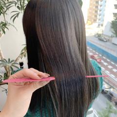 ロング ロングヘア 髪質改善 ナチュラル ヘアスタイルや髪型の写真・画像