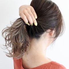ダブルカラー ミディアム ハイライト グレージュ ヘアスタイルや髪型の写真・画像