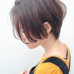 オフィス ショート イルミナカラー デート ヘアスタイルや髪型の写真・画像