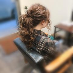 ポニーテール ロング ヘアアレンジ ヘアセット ヘアスタイルや髪型の写真・画像