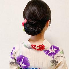 浴衣ヘア アップスタイル 着物 お呼ばれ ヘアスタイルや髪型の写真・画像