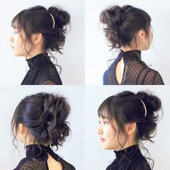 ヘアアレンジ ガーリー 簡単ヘアアレンジ デート ヘアスタイルや髪型の写真・画像