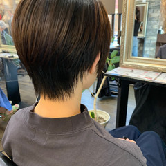 ナチュラル ショートボブ ベリーショート ハンサムショート ヘアスタイルや髪型の写真・画像