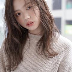 韓国風ヘアー うる艶カラー ロング 大人可愛い ヘアスタイルや髪型の写真・画像