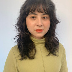 パーマ モード スパイラルパーマ セミロング ヘアスタイルや髪型の写真・画像