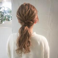 ロング デート スポーツ 冬 ヘアスタイルや髪型の写真・画像