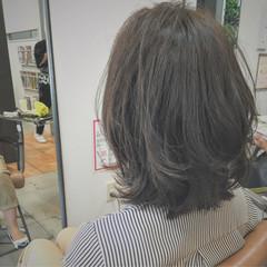 ボブ ナチュラル 外ハネ くせ毛風 ヘアスタイルや髪型の写真・画像