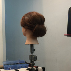 ヘアアレンジ セミロング ヘアスタイルや髪型の写真・画像