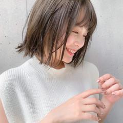 鎖骨ミディアム 透明感 小顔ヘア ナチュラル ヘアスタイルや髪型の写真・画像