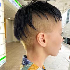 インナーカラー ショート ベリーショート ブリーチカラー ヘアスタイルや髪型の写真・画像