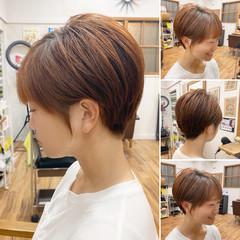 切りっぱなしボブ ベリーショート ショート ショートヘア ヘアスタイルや髪型の写真・画像