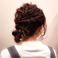 ショート 大人かわいい ミディアム 簡単ヘアアレンジ ヘアスタイルや髪型の写真・画像