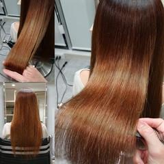 縮毛矯正 ナチュラル 美髪 艶髪 ヘアスタイルや髪型の写真・画像