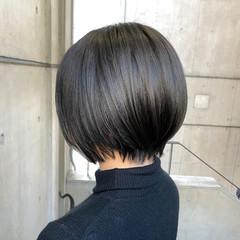ショートヘア ナチュラル 大人かわいい ショートボブ ヘアスタイルや髪型の写真・画像