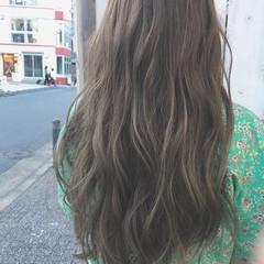 ウェーブ ロング ヘアアレンジ アンニュイ ヘアスタイルや髪型の写真・画像