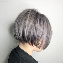 ボブ ヘアアレンジ 透明感 外国人風カラー ヘアスタイルや髪型の写真・画像