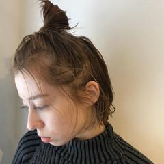 ゆるふわ ヘアアレンジ ショート お団子 ヘアスタイルや髪型の写真・画像