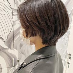 ナチュラル ショート ショートヘア 簡単スタイリング ヘアスタイルや髪型の写真・画像