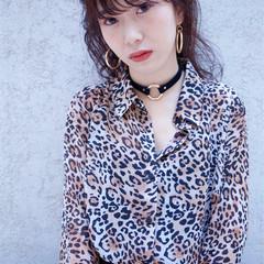 大人女子 ストリート ハーフアップ ニュアンス ヘアスタイルや髪型の写真・画像