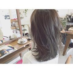大人かわいい 黒髪 ストレート ストリート ヘアスタイルや髪型の写真・画像