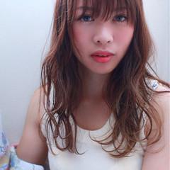アンニュイ 夏 ウェーブ リラックス ヘアスタイルや髪型の写真・画像