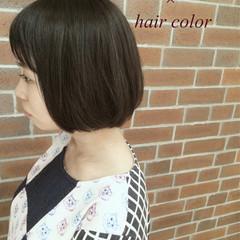 外国人風 ボブ アッシュ 色気 ヘアスタイルや髪型の写真・画像