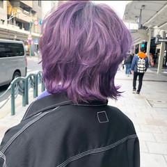 ウルフカット モード ミディアムレイヤー ミディアム ヘアスタイルや髪型の写真・画像