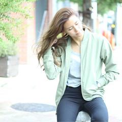 ロング 大人女子 かっこいい グラデーションカラー ヘアスタイルや髪型の写真・画像