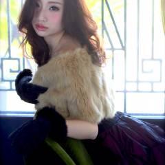 秋 大人かわいい モテ髪 セミロング ヘアスタイルや髪型の写真・画像