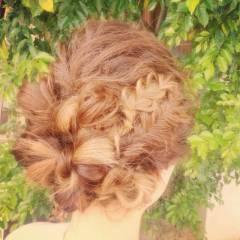 ヘアアレンジ 愛され 編み込み コンサバ ヘアスタイルや髪型の写真・画像