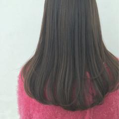ナチュラル ワンカール ストレート ハイライト ヘアスタイルや髪型の写真・画像