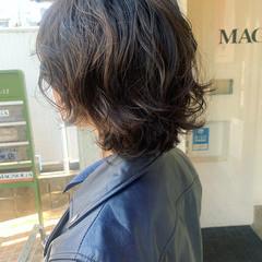 ウルフカット ニュアンスパーマ ボブ パーマ ヘアスタイルや髪型の写真・画像