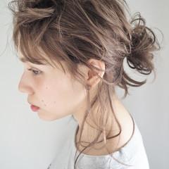 エレガント デート パーマ ミディアム ヘアスタイルや髪型の写真・画像