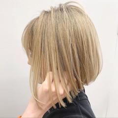 ストリート ボブ 切りっぱなしボブ ショートヘア ヘアスタイルや髪型の写真・画像