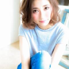 モテ髪 大人かわいい ゆるふわ 外国人風 ヘアスタイルや髪型の写真・画像