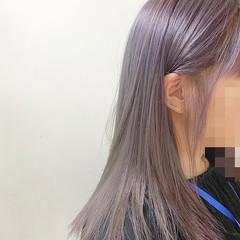 インナーカラー アディクシーカラー セミロング イルミナカラー ヘアスタイルや髪型の写真・画像