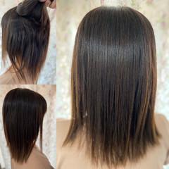 コンサバ 最新トリートメント 縮毛矯正 ロング ヘアスタイルや髪型の写真・画像