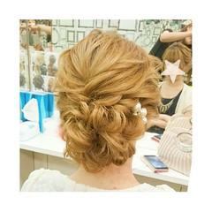 ヘアアレンジ ナチュラル 結婚式 女子会 ヘアスタイルや髪型の写真・画像