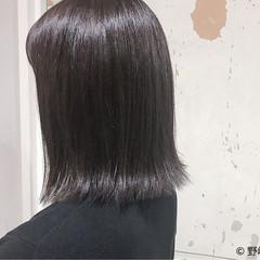 黒髪 大人かわいい 切りっぱなし 暗髪 ヘアスタイルや髪型の写真・画像