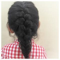 セミロング 子供 ディズニー ヘアアレンジ ヘアスタイルや髪型の写真・画像